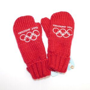 HBC 2010 Vancouver Olympics Youth Mittens Red